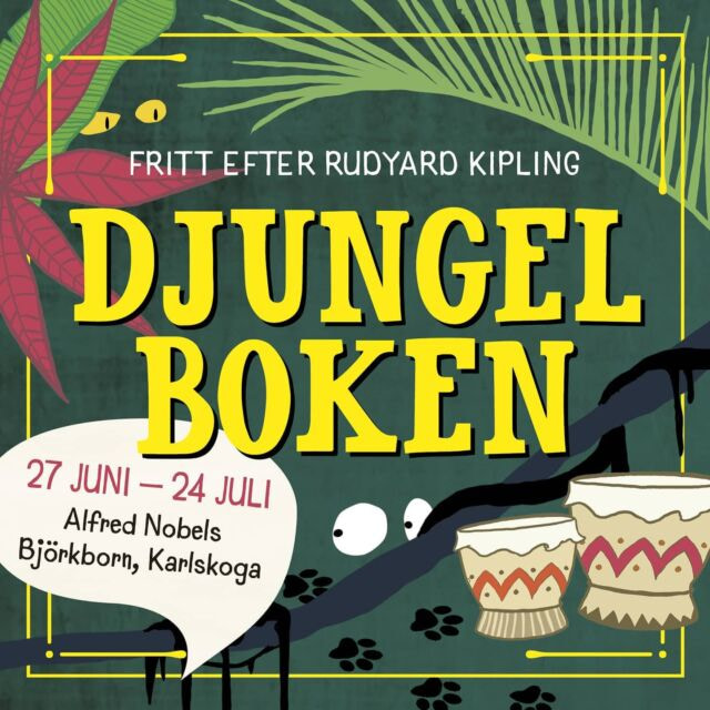 BILJETTERNA ÄR SLÄPPTA! 🐾 Gå in på Nortic.se och boka nu. Premiär 27 juni. 🐅  Läs mer på lyset.se Frågor? Info@lyset.se  #djungelboken #sommarteater #björkbornsherrgård