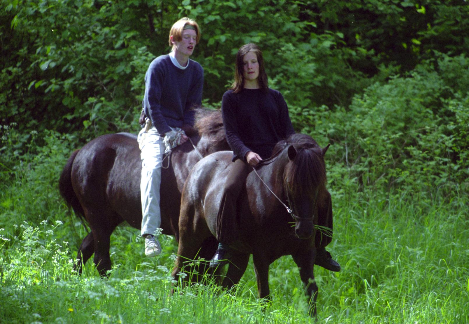 I Karlsdal Trivdes Både Människa Och Häst